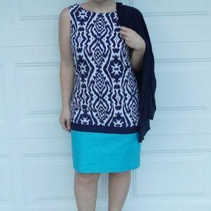 Anne Klein Ikat Dress
